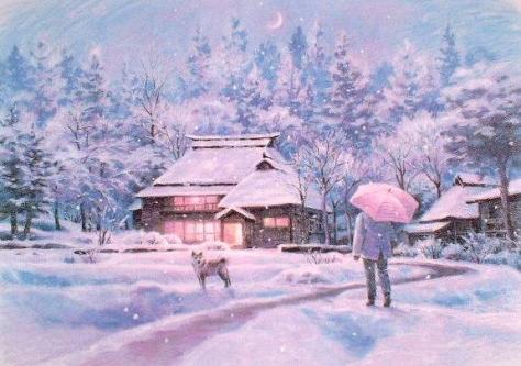 笹倉鉄平「風花 - Flakes in Winter」