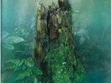 根っ株の精霊たち-緑衣(売却済み)