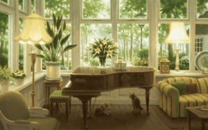 ピアノのある部屋 ジクレ