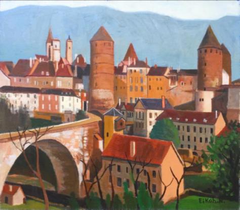 ブルゴーニュ風景(フランス)(油彩 F10号)