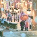 笹倉鉄平最新作「聖ミクラーシュ教会、雪の眺望~Mala Strana in Snow~」
