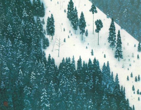 東山魁夷「春雪」