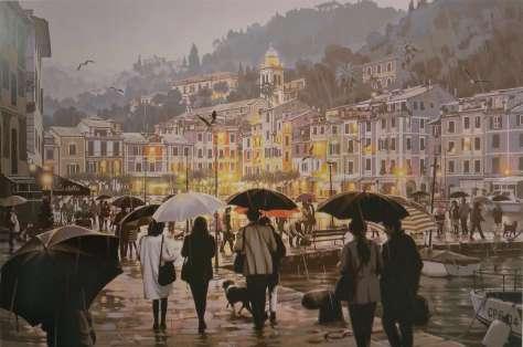 雨のポルトフィーノ