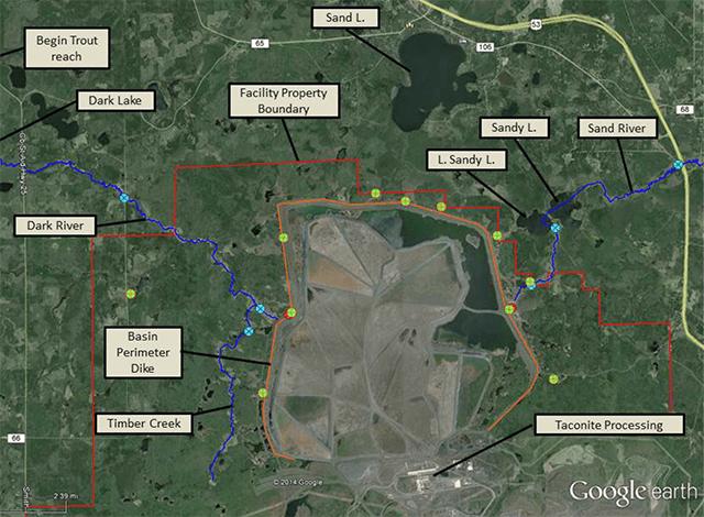 Minntac Tailings Basin. Photo courtesy Minnesota Pollution Control Agency