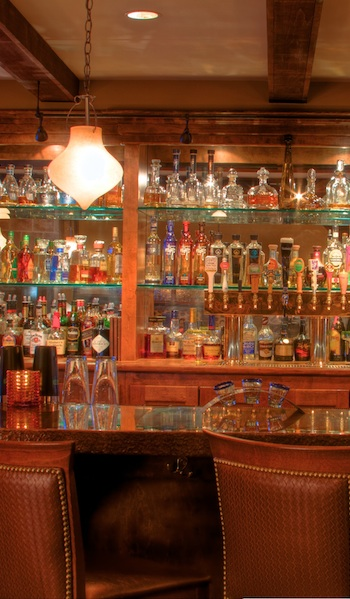 A view of the bar at Agave Mexican Bistro