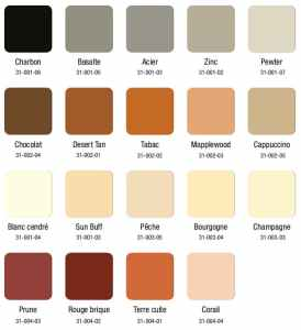 Nuancier de couleurs pour le béton imprimé