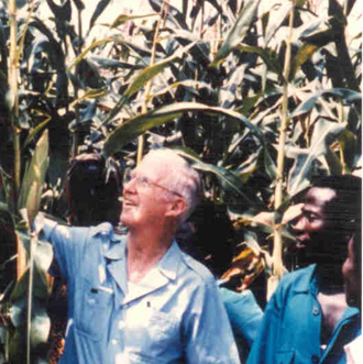 Norman Borlaug in Africa (from Agbioworld)