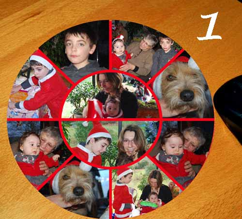 tapis de souris personnalise de 8 a 12 photos pele mele selon modele