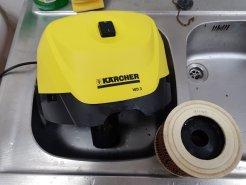 Karcher WD 3: możliwość mycia w dużym zlewie / fot. techManiaK.pl