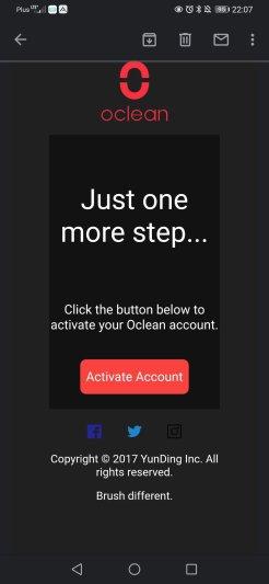 Aplikacja Oclean pierwsze uruchomienie i aktywacja (8)