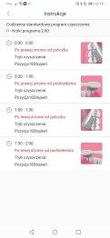 Aplikacja Oclean przykładowe instrukcje do programów czyszczenia (4)