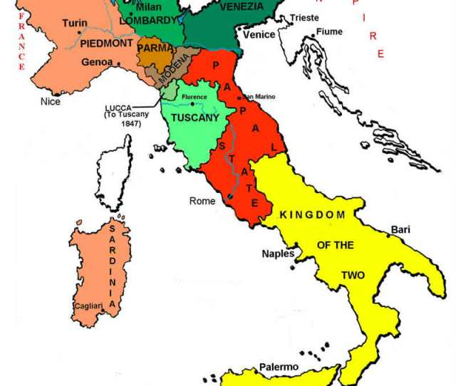 Map Of Italian States In