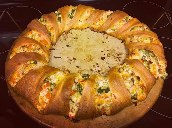 Chicken Broccoli Ring recipe