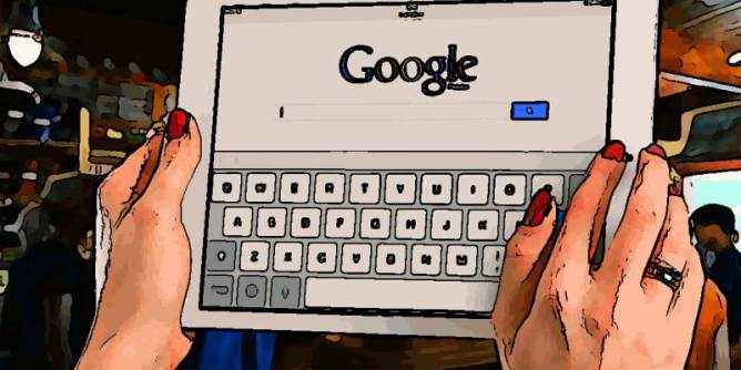 Big and strong. Google on tablet.