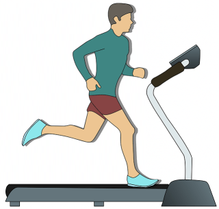 Man on Treadmill - Sports Is Not a Passive Income Idea