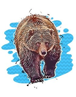 Bear, the symbol of stock market downtrends