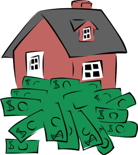 House with money - inflation may push up prices