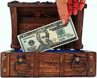 Old style personal finance: money in the chest