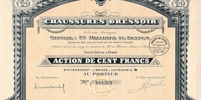 "Let's Buy European Stocks? French Share (Company ""Chaussures Dressoir"")"