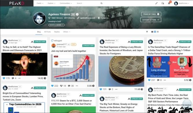 My Peakd Profile (Hive blockchain)