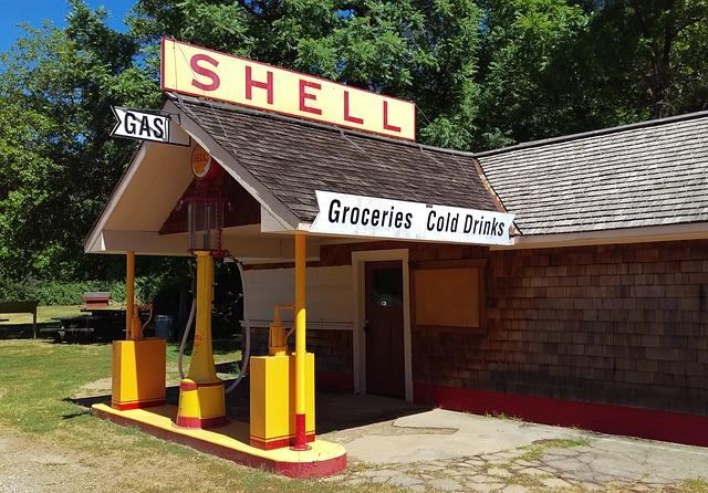 Shell gas station model