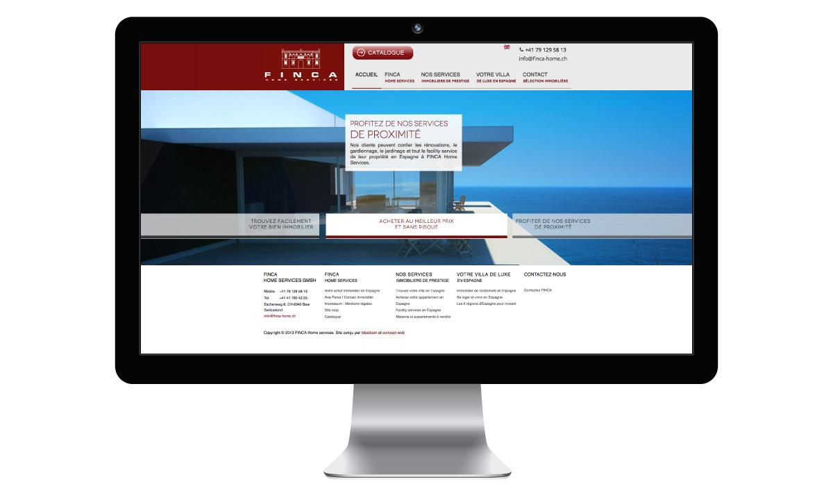 Création d'un site immobilier