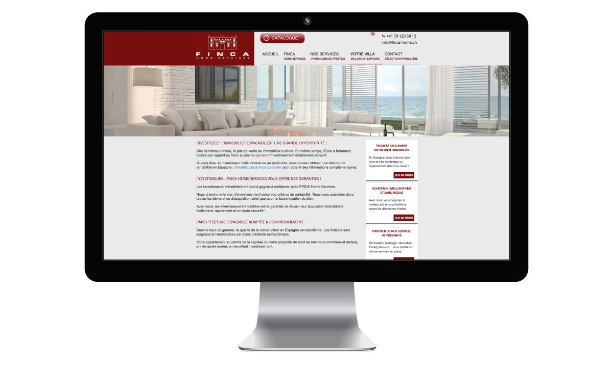 Site internet de Finca Home Services