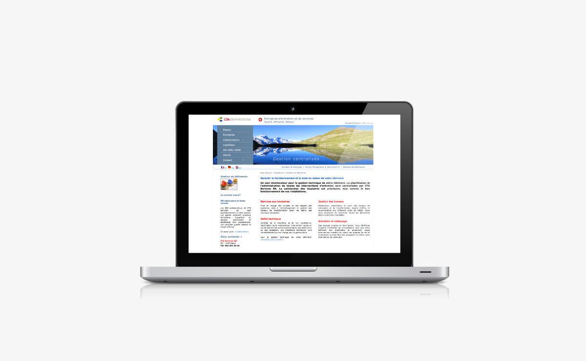 Rédaction du site internet de CTA Services SA