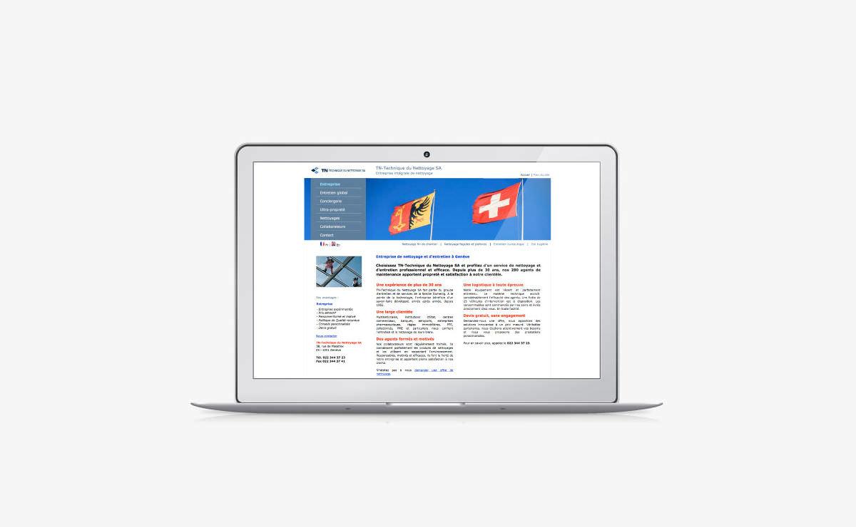 Rédaction et référencement du site internet de TN-Technique du Nettoyage SA
