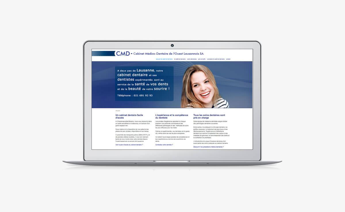 Création du site internet du cabinet dentaire CMD à Lausanne