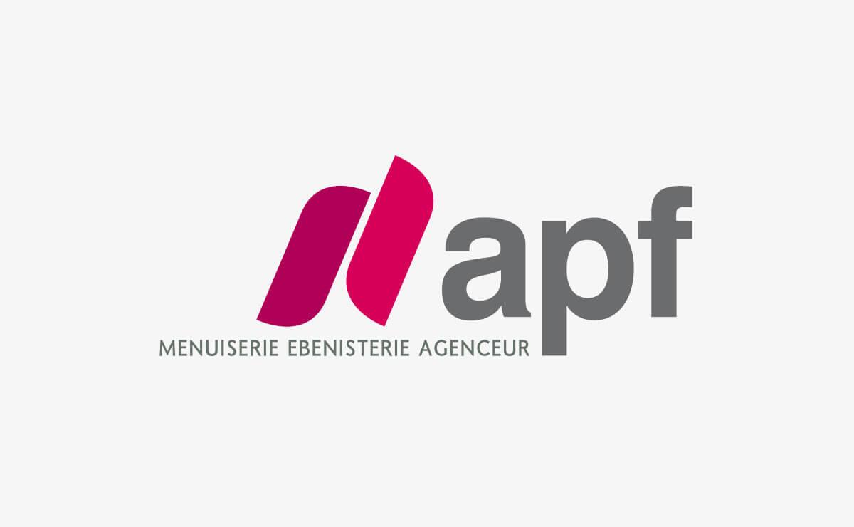 Création du logo et de l'identité d'entreprise d'APF Menuiserie SA à Etoy (Vaud | Suisse)