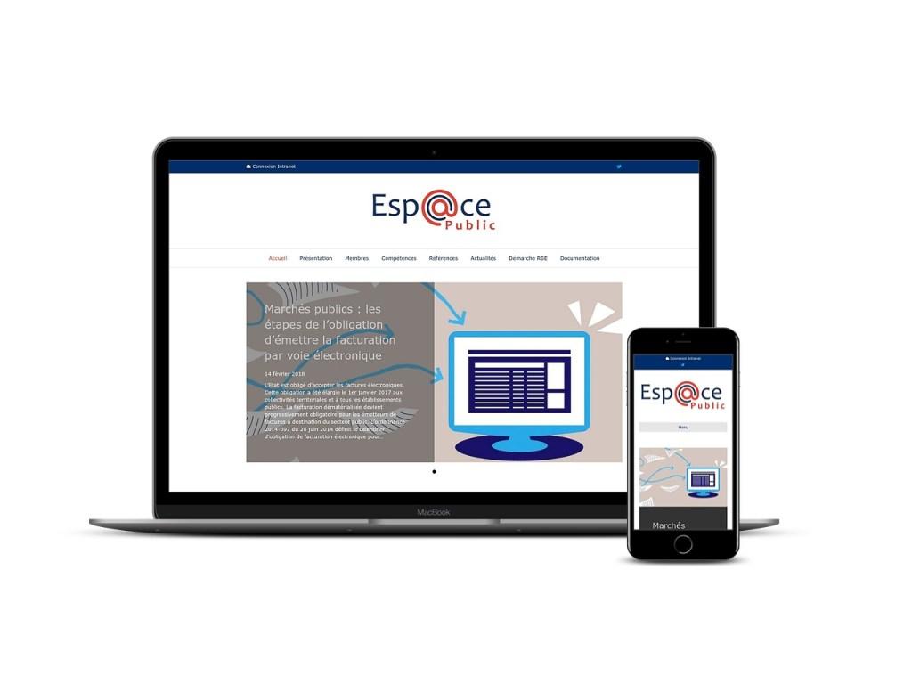 Site internet pour l'association Espace Public