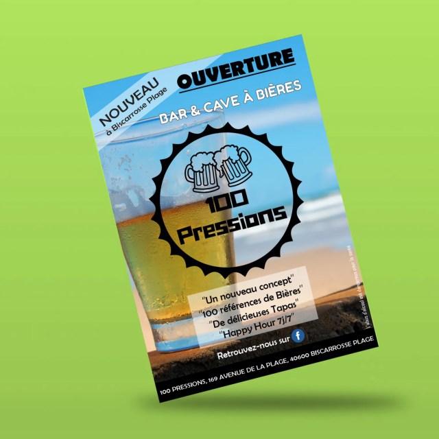 Flyer d'ouverture créé par Agence graphics