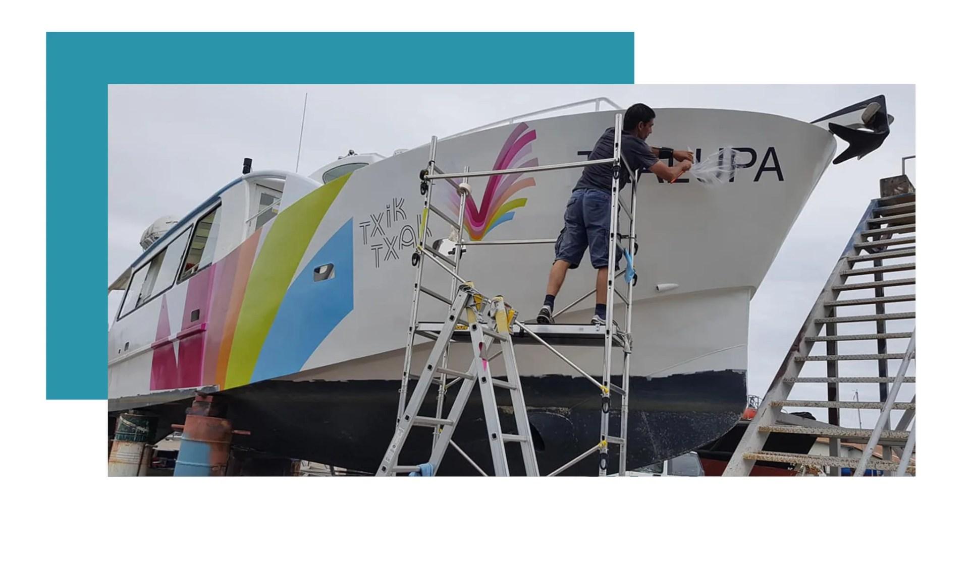 wrapping bateau agence graphics bayonne hendaye