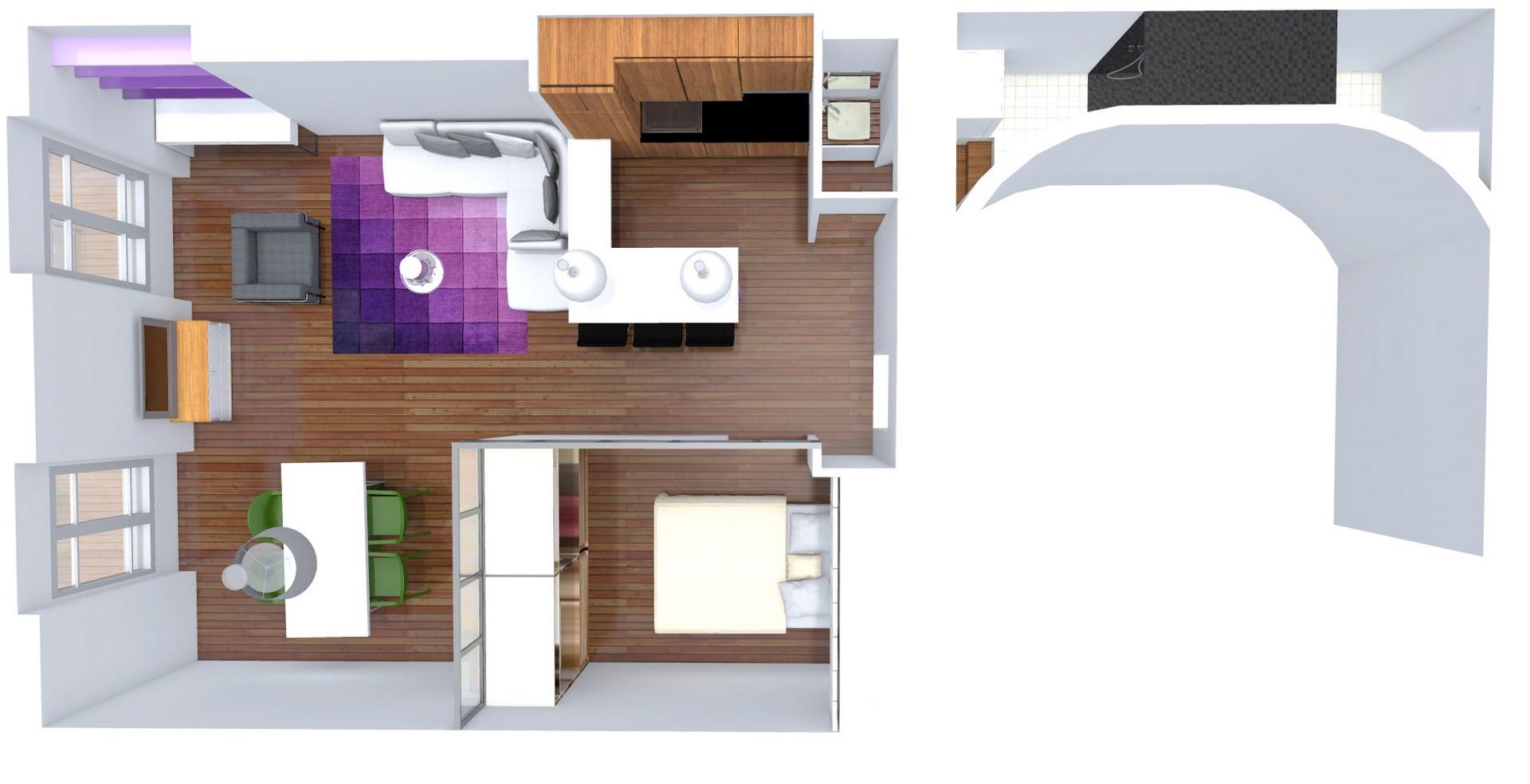 Une Chambre Au Milieu Du Salon Architecture Dintrieur
