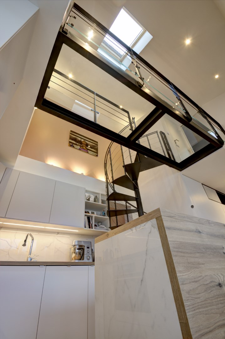 Amnagement Appartement VEFA Passerelle Escalier Colimaon