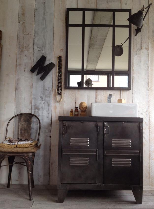 meuble salle de bain metal
