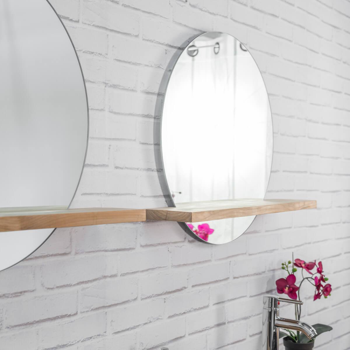 miroir bologne de salle de bain rond en