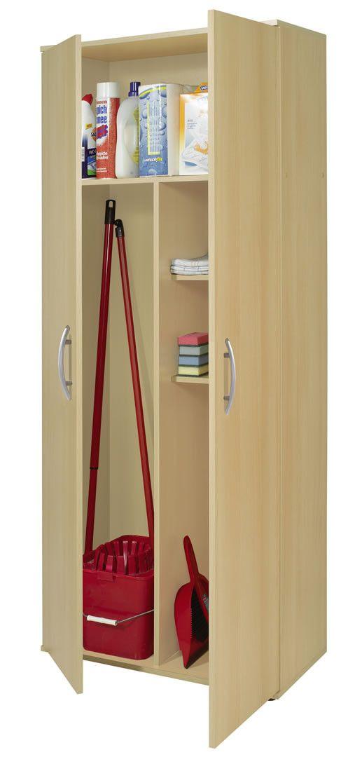 armoire a balai 2 portes bibi chene