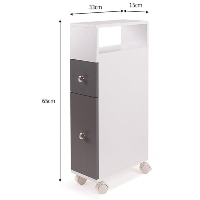 meuble rangement wc sur roulettes 2