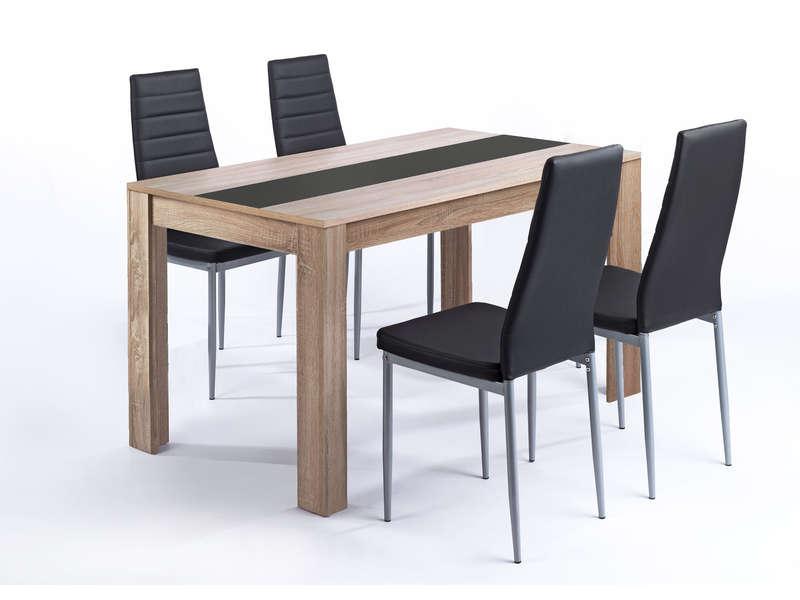 ensemble table et 4 chaises pegasus