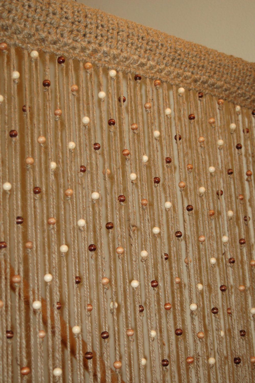 jute naturel au crochet porte rideau