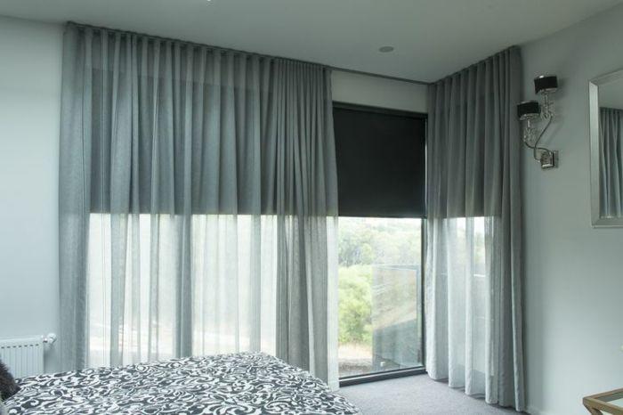 rideaux baie vitree moderne