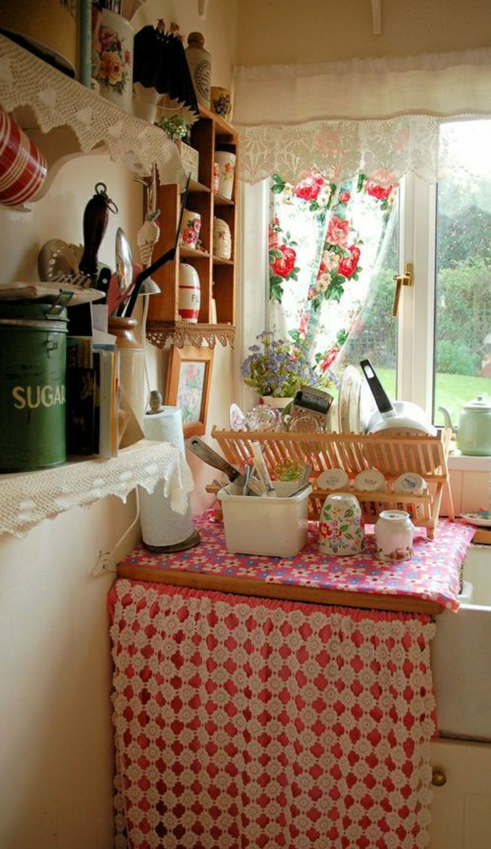rideau sous evier cuisine
