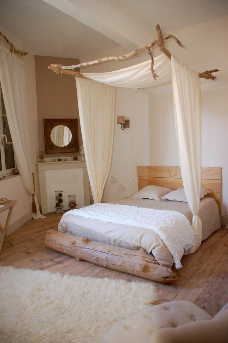 lit baldaquin moderne pour chambre d