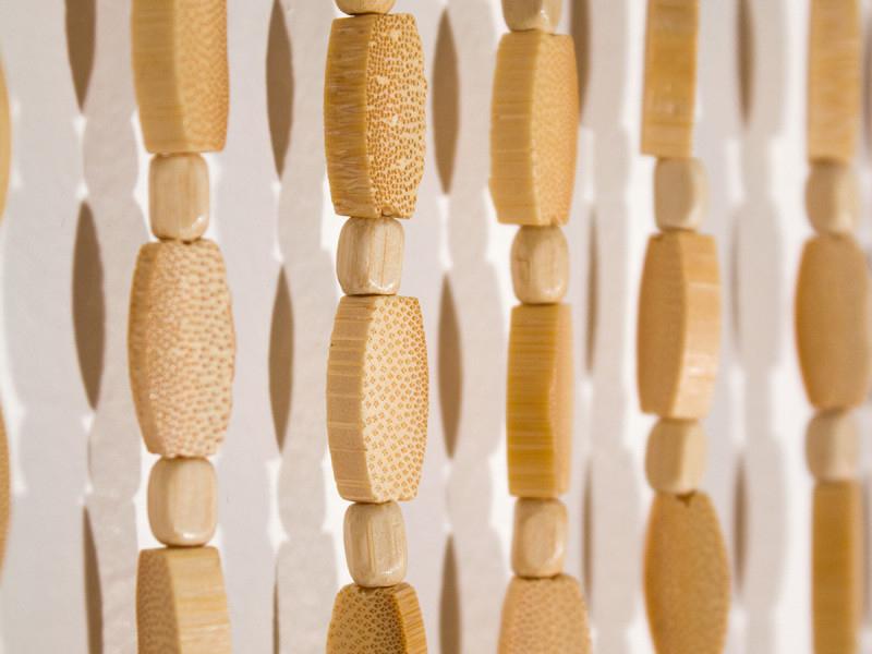 rideau de porte en bambou et perle de