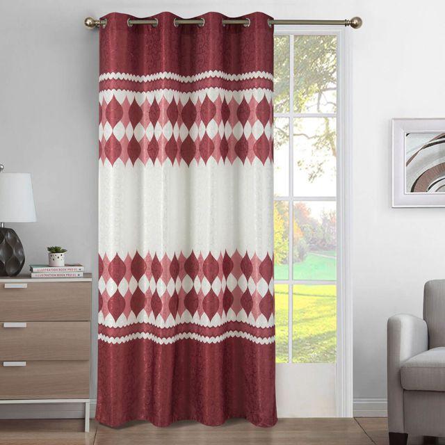 rideau porte rouge interieur rideau de