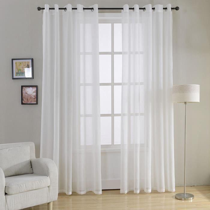 rideaux voilage blanc achat vente