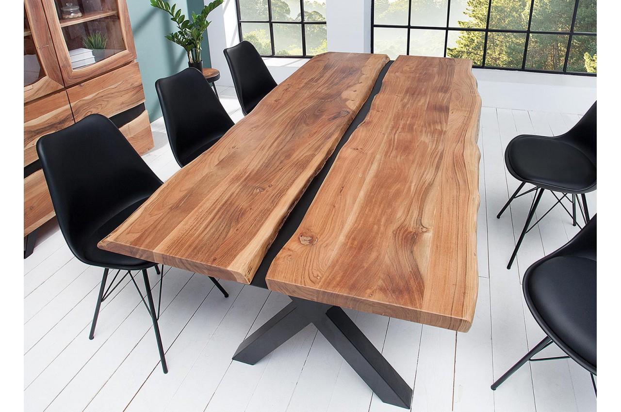 table salle a manger fer et bois