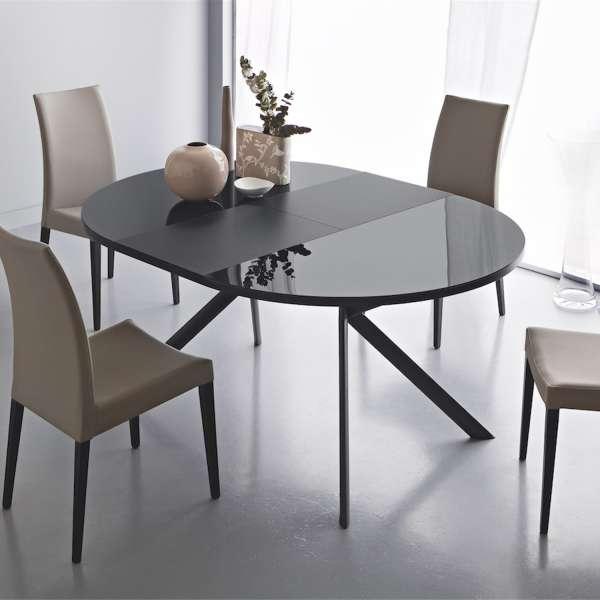 table ronde extensible en verre giove